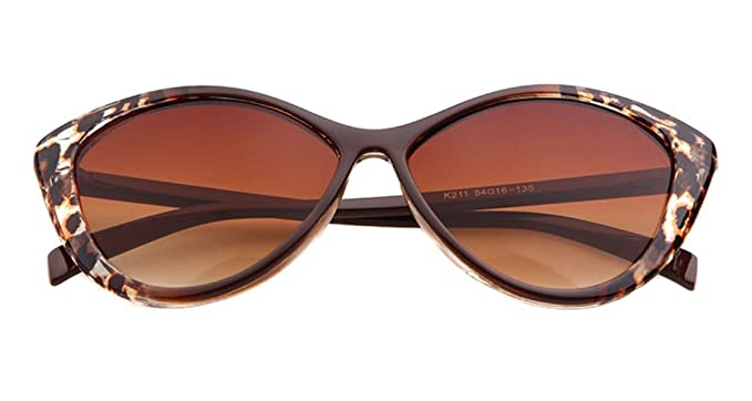 Leoparden-Muster, aus Kunststoff, mit Rand, rechteckig, volle Sonnenbrille für Damen