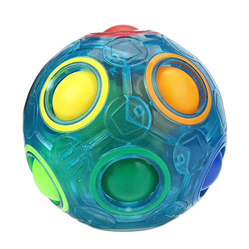 Price comparison product image Boofab Luminous Stress Reliever Magic Rainbow Ball Fun Cube Fidget Puzzle Education Toy For Kids / Adults