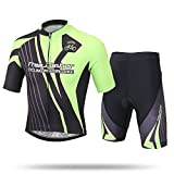Free Fisher Kids Boys' Girls' Cycling Jersey Set (Short Sleeve Jersey + Padded Shorts) Racing 2X
