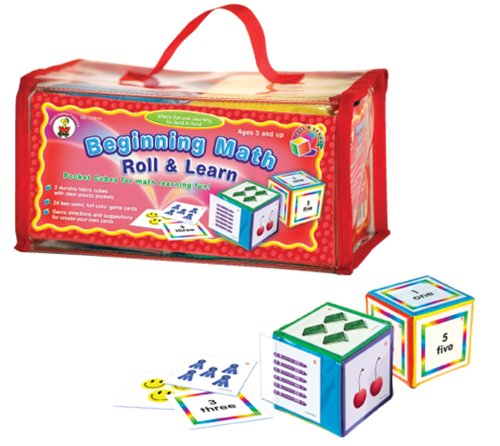 Beginning Math Roll and Learn Pocket Cubes