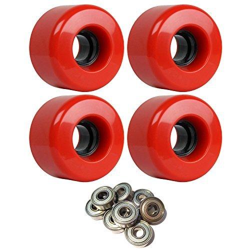 絡まる応援する曲線Longboard Cruiser Wheels 63 mm x 40 mm 83 a 186 CレッドABEC 7 Bearings [並行輸入品]
