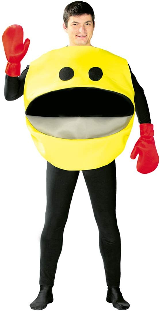 NET TOYS Divertido Disfraz Smiley para Adulto - Amarillo-Negro L ...