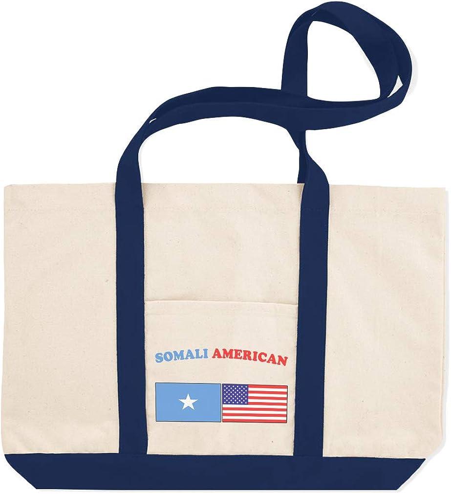 Canvas Shopping Tote Bag Somali American Countries American Flag Beach Bags for Women