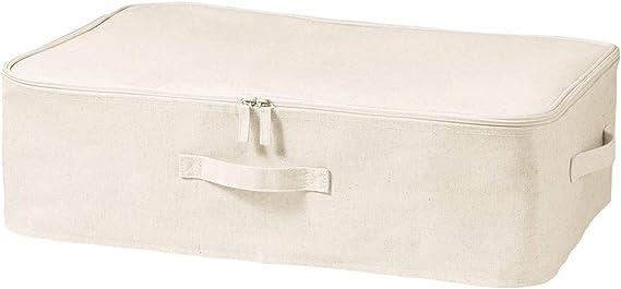 Muji Caja De Almacenamiento De Tela Suave De Poliéster, Lino Y Algodón, Mediana: Amazon.es: Hogar