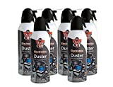 air duster spray - Dust-Off Disposable Compressed Gas Duster, 10 oz Cans, 6 Pack