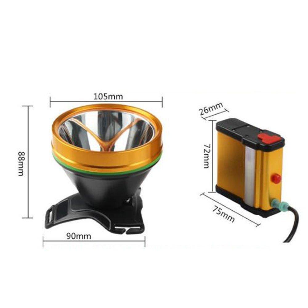 headlight Faros Luz Brillante Cargando S/úper Brillante 3000 Metros Impermeable 200w Caza 1500 Metros Luz Amarilla,Yellow