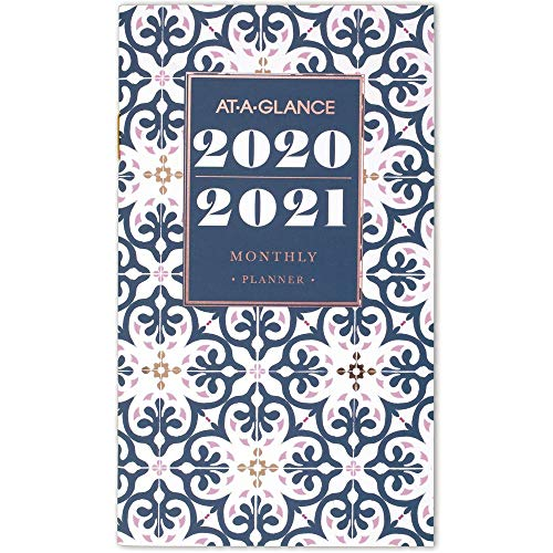 2 Year Pocket Calendar (AT-A-GLANCE 2020-2021 Monthly Pocket Planner, 2 Year, 3-1/2