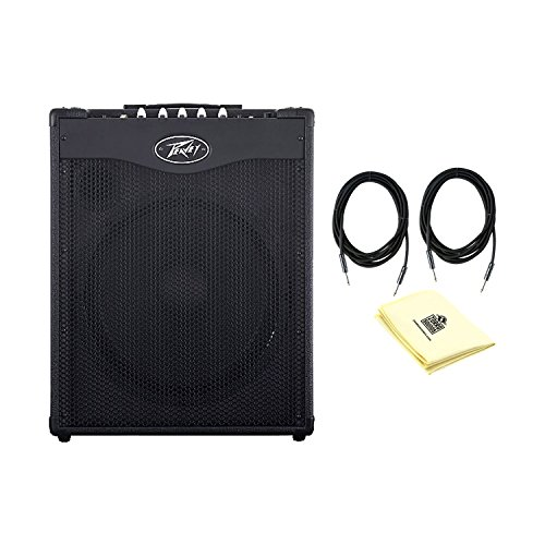 Peavey 03608210 Electronics Max Series 03608210 Max 115 Bass Combo Amplifier With a Pair of Instrument Cables and Polishing Cloth by Peavey