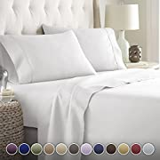 Hotel Luxury Bed Sheets Set- 1800 Series Platinum Collection-Deep Pocket,Wrinkle & Fade Resistant (King,White)