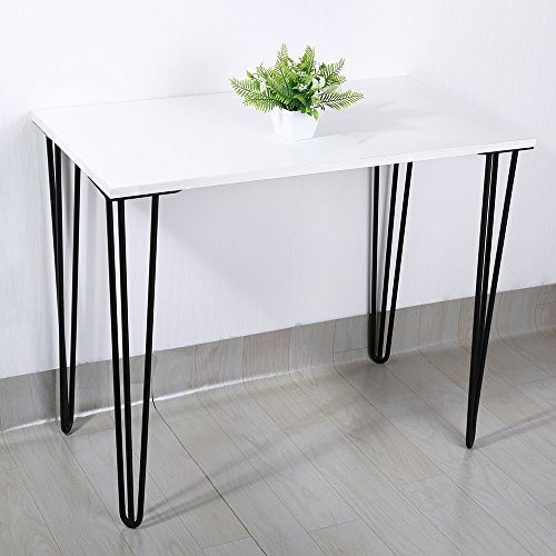 28'' Hairpin Legs, 1/2'' Diameter Cold Rolled Steel, 3-rod(Satin Black)Set of 4 Table Legs, Metal Legs, Furniture Legs,Coffee Table Legs,Desk Legs,Perfect for DIY Projects by okdeals (Image #5)
