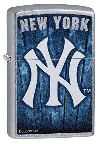 Custom Personalized MLB™ New York Yankees™ Street Chrome Windproof Lighter Free Engraving #29795