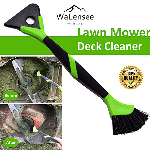 Walensee Lawn Mower Tools Lawn Mower Accessories Lawn Mower Deck Cleaner Lawn Mower Scraper Brush Mower Cleaner Mower Deck Brush Tractor Cleaning Tools 16 Inches ()