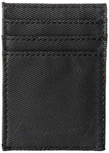 Dickies Men's Card Carrier Front Pocket Wallet with Money Clip,Black -