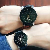 1PC Fashion Women Lady Man Lovers Quartz Dial Clock Leather Wrist Watch