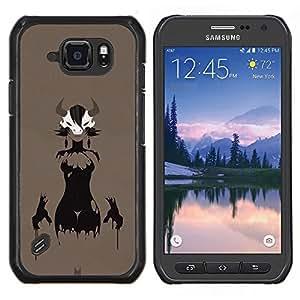 Caucho caso de Shell duro de la cubierta de accesorios de protección BY RAYDREAMMM - Samsung Galaxy S6Active Active G890A - Astado Señora