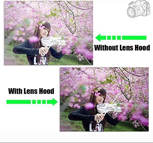 AF-P DX NIKKOR 70-300mm f//4.5-6.3G ED BlueBeach/® HB-77 Remplacement Paresoleil pour Objectif Nikon AF-P DX NIKKOR 70-300mm f//4.5-6.3G ED VR Non compatible avec les autres mod/èles dobjectif