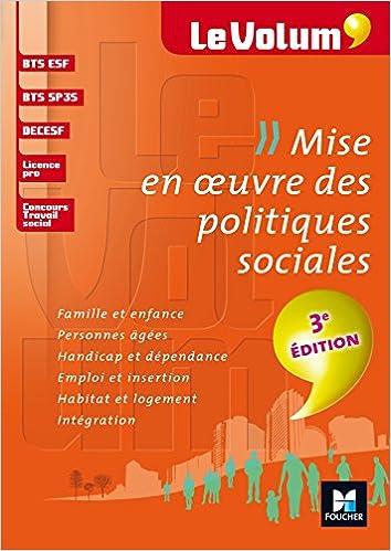 Mise en oeuvre des politiques sociales 3e édition - Le Volum' - Nº03