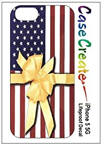 American Flag Yellow Ribbon Decorative Sticker Decal for your iPhone 5 Lifeproof Case