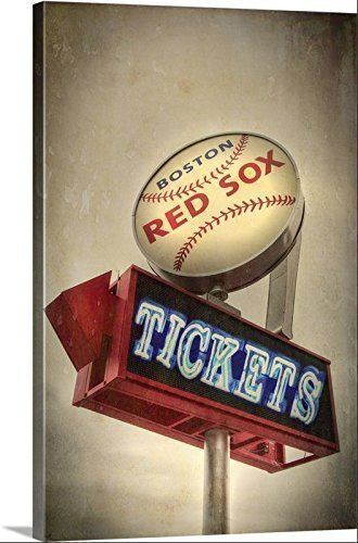 Amazon.com: Red Sox Canvas Art, Vintage Baseball Canvas, Boston ...