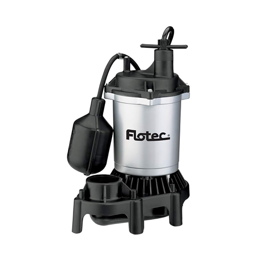 Flotec FPZS50T Submersible Sump Pump With Tethered float Switch, 4200 Gph, 1/2 Hp, 115 Vac, 60 Hz by Flotec