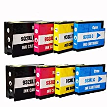 8 pk HP 932XL, 933XL New Compatible Inkjets Hp OfficeJet 6100, 6600, 7610, 6700, Premium 7110 Sold by CINK