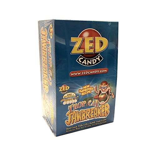 ZED Candy Tropical Jawbreaker, Tropische Bonbons mit Kaugummikern (40 x 5 Stk pro Box)