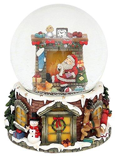 Unbekannt Sigro Santa am Kamin Spielzeug Snow Globe, 14,5 x 11 5 cm, Mehrfarbig B074V6V9W4 Schneekugeln