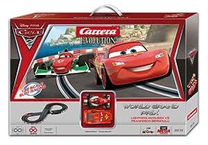 Carrera 25179 Disney / Pixar Cars 2 Evolution - Circuito de carreras (escala 1:24, 200 x 80 cm, incluye 2 coches) [importado de Alemania]