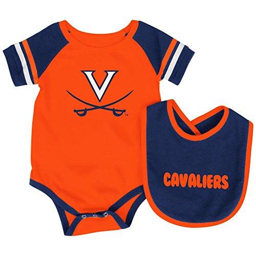 University of Virginia Cavaliers Baby Bodysuit and Bib Set Infant Jersey (0-3 M)