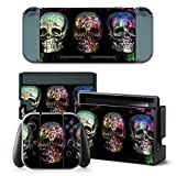Cheap Gam3Gear Vinyl Decal Protective Skin Cover Sticker for Nintendo Switch Console & Controller – Color Skull