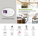 BIBENE WIFI GSM GPRS 2.4Ghz Home Security Alarm System DIY Kit with 2.4 inch TFT Touch Panel APP Control RFID Card 8 Sensor Modes Instant Notification for Alzheimer Addable 99 Sensors for Home Office