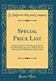 Amazon / Forgotten Books: Special Price List Lilium Harrisii, or True Bermuda Easter Lily, Hyacinths, Narcissus, Tulips, Etc. for Summer and Fall Delivery Season 1894 Classic Reprint (Z DeForest Ely and Company)
