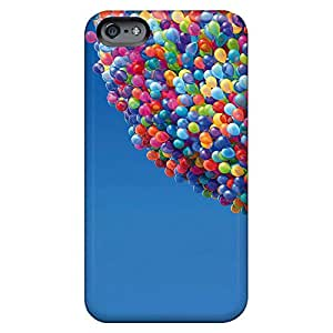 iphone 5c Eco-friendly Packaging phone back shells colorful Durability up movie balloons house