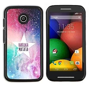 Dragon Case - FOR Motorola Moto E (1st Gen, 2014) - Don't cry for pain - Caja protectora de pl??stico duro de la cubierta Dise?¡Ào Slim Fit
