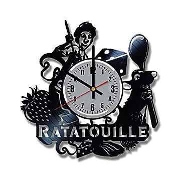 Ratatouille - Reloj de Pared (Vinilo, Hecho a Mano), diseño con Texto