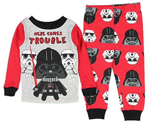 [Star Wars Vader Here Comes Trouble Little Boys' Toddler 2 Piece Pajama Set (5T)] (C3po Mask)