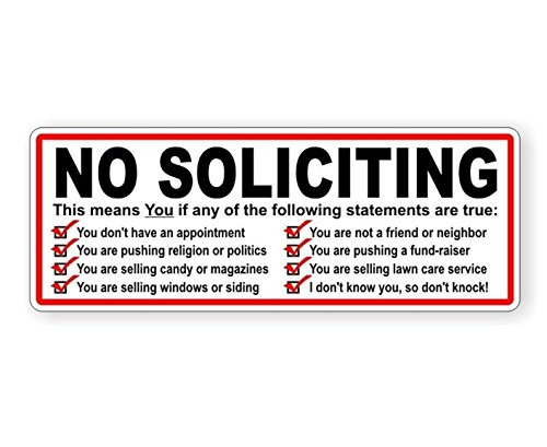 1-Pc Glittering Unique No Soliciting This Means You If Any of The Following Statements Are True Window Stickers Mac Macbook Laptop Graphics Solicitors Solicit Trespassing Vinyl Art Sticker Size - Are Ray Guys For Bans