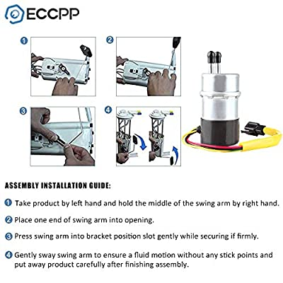 ECCPP Compatible for Electric Fuel Pump Kawasaki Vulcan Voyager XII ZG1200B VN1500 Vulcan 1500 VN1500 1986-2004 49040-1063: Automotive