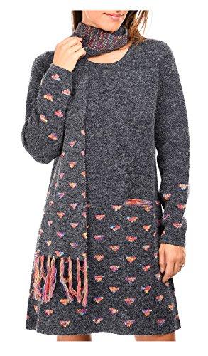Abito Paris maglione Her JENNA Donna Multicolore For xFSEwq4