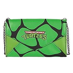Teenage Mutant Ninja Turtles Womens Envelope Clutch Wallet w/ Chain