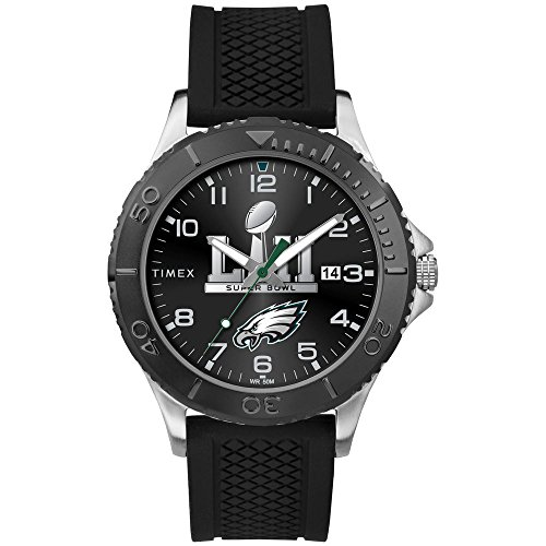 Mens Philadelphia Eagles Timex Black Super Bowl Lii Champions Tribute Collection Watch