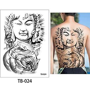 Etiqueta engomada del tatuaje temporal de la espalda grande ...