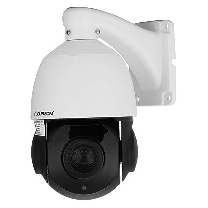 FLOUREON Cámara IP domo de Vigilancia (1080P, 18X ZOOM, Visión nocturna, IR
