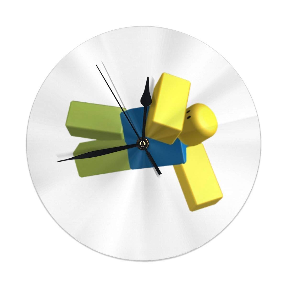 Reloj de Pared silencioso y sin Tacto, de Cuarzo, de PVC, para casa, Oficina, Escuela, Decorativo, Redondo, 9.8 Pulgadas