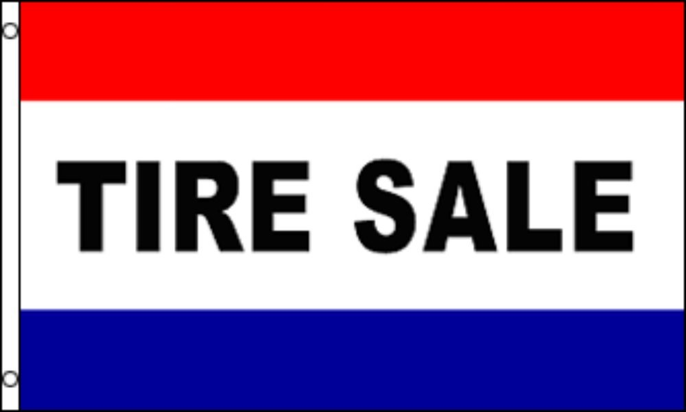 TIRE SALE Flag 3x5 Polyester