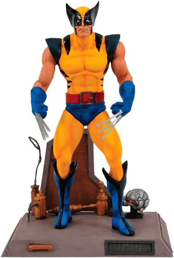 Diamond- Lobezno Traje Amarillo Figura 18 cm con Base Marvel ...