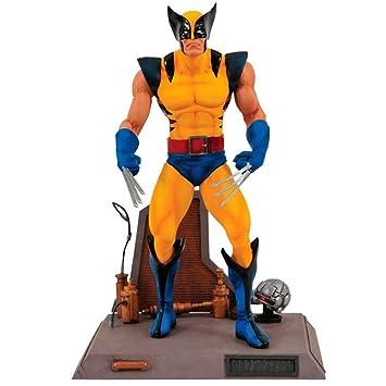 Diamond- Lobezno Traje Amarillo Figura 18 cm con Base Marvel Select, Color (DIADIA83698)