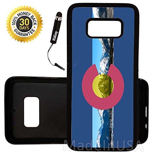 Colorado Rockies Ipod Case - Custom Galaxy S8 Case (Colorado Flag Rocky Mountains) Edge-to-Edge Rubber Black Cover Ultra Slim   Lightweight   by Innosub