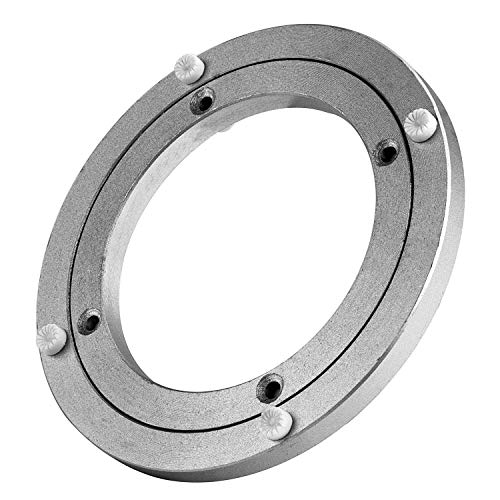 Lazy Susan Heavy Duty Aluminium Rotating Turntable Bearing Round Swivel Plate Hardware for Kitchen Dining-Table (6inch)