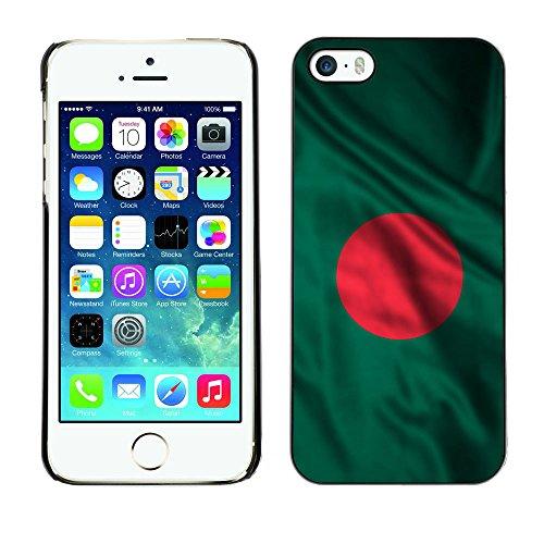 Price comparison product image FJCases Bangladesh Bangladeshi Waving Flag Slim & Thin Hard Case Cover for Apple iPhone SE / 5 / 5S
